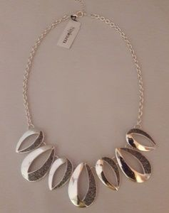Style & Co Silver Glitter Necklace & Earrings Set